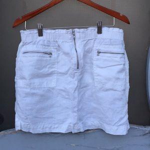 White linen skirt Lou & Grey